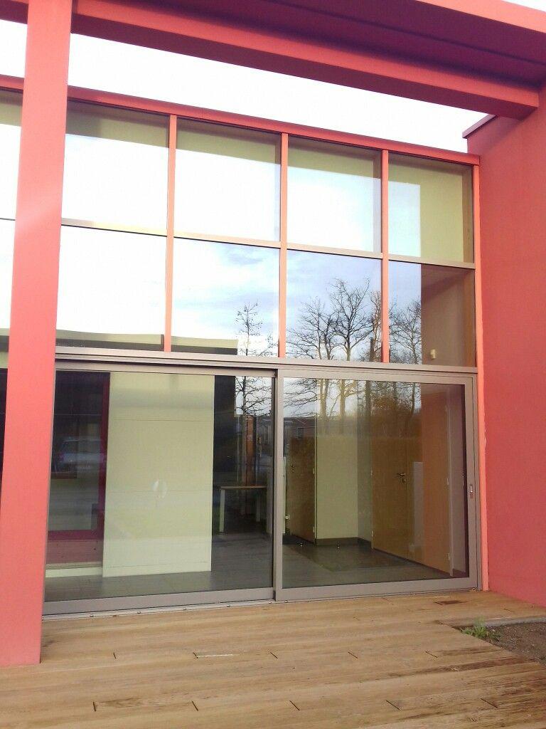 Showroom Minco Siege Social Usine Aigrefeuille Sur Maine Levant Coulissant Lg 4m30 Dans Structure Mur Rideau Mur Rideau Maison Ossature Bois Maison