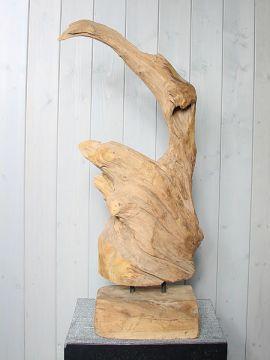 #Houtsculptuur #HoutenOrnament #teakopvoet YA-29