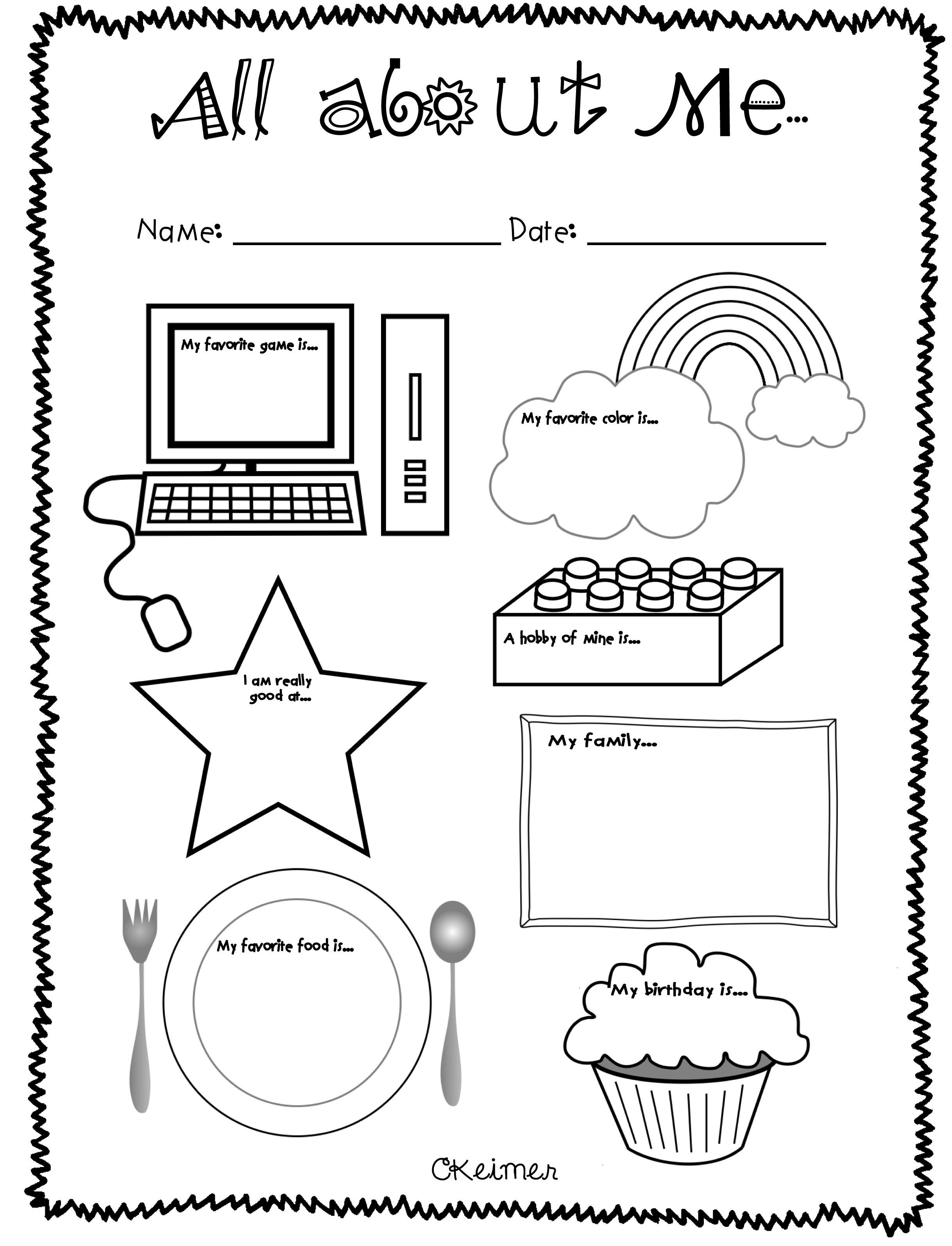 Worksheet All About Me Free Grass Fedjp Incredible Poster