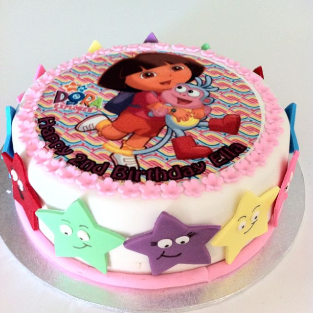 Pin by mel salmon on cakes i 39 ve made pinterest fiesta for Baby dora tooth decoration