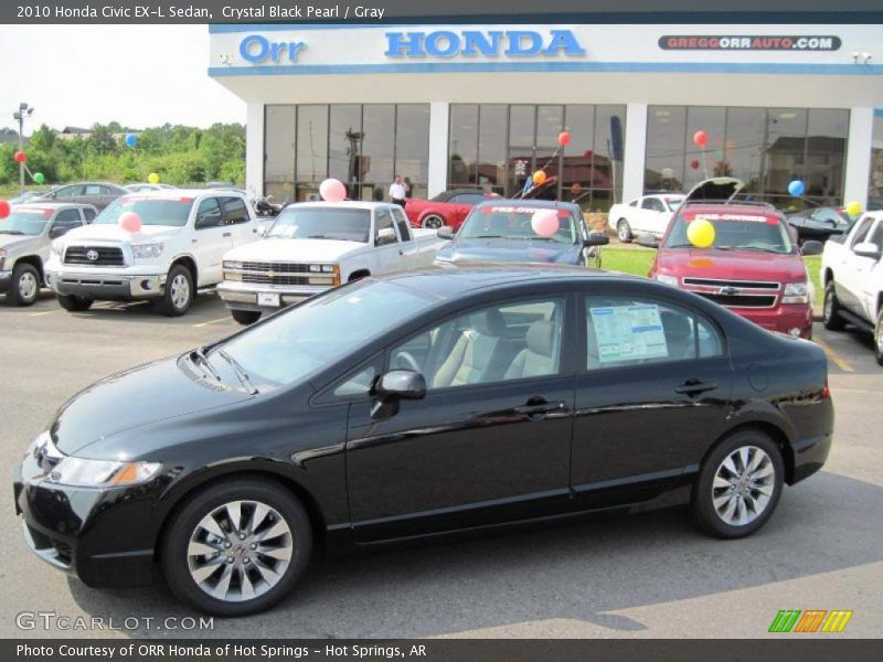 Etonnant Crystal Black Pearl / Gray 2010 Honda Civic EX L Sedan