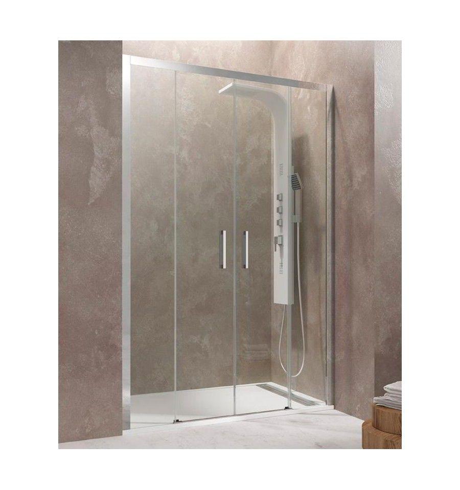 Mamparas de ducha Aktual transparente de 2 fijos más 2 correderas ...