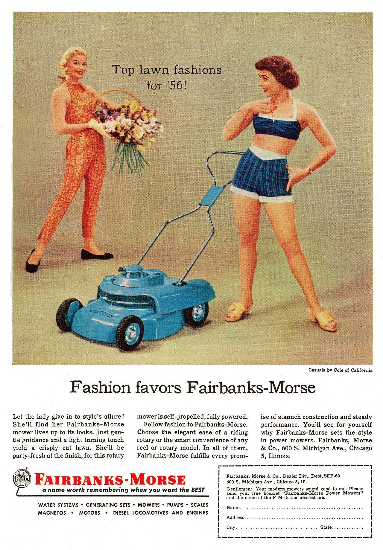 A Fashionable Lawn Mower By Fairbanks Morse 1956 Retro