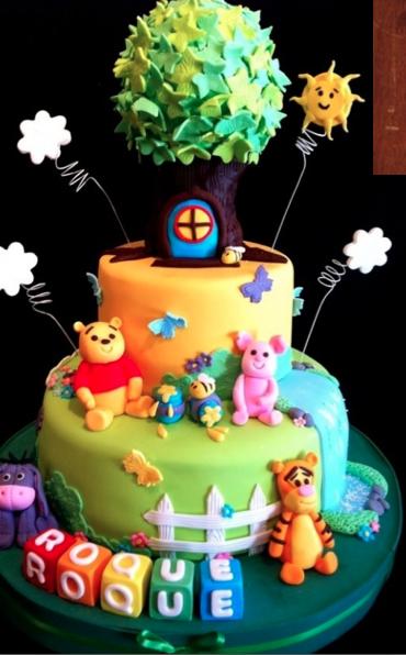 Winnie the pooh cake cakes Pinterest Tortas decoradas para