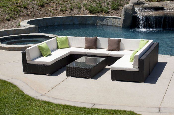 Swing 46 U Shaped Sectional Style 1 Outdoor Outdoor Living Furniture Outdoor Sectional Outdoor Furniture
