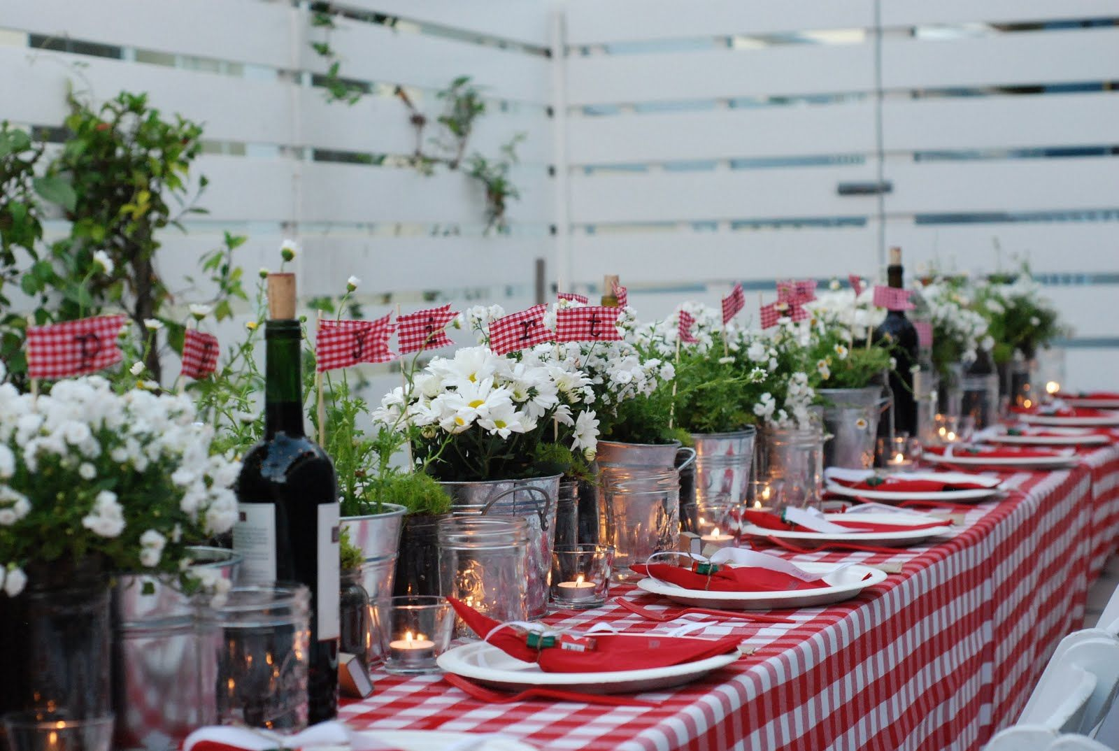 gingham party theme - Google Search
