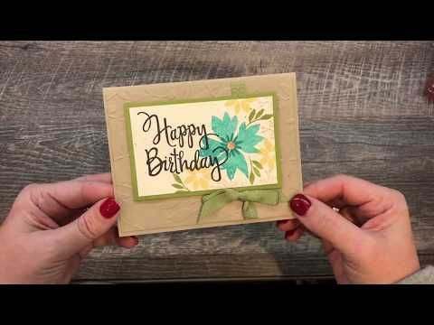 How To Make A Simple Floral Birthday Card Youtube Cards Birthday