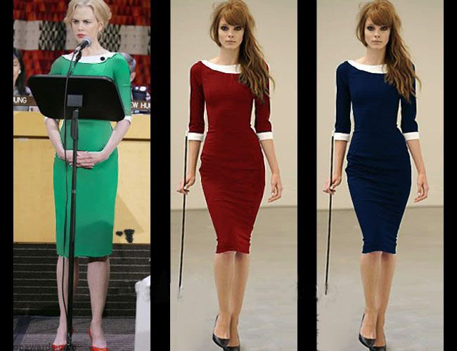 2013 Formal Pencil Vintage Pinup Bodycon Fitted Party Shift Sheath Dress D0090  $22.53