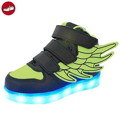 (Present:kleines Handtuch)Weiß EU 39, LED Schuhe Sneakers Tanzen Party Herren High-Top USB Rollbrett JUNGLEST® Turnschuhe Damen 7 Aufladen Glow Unisex