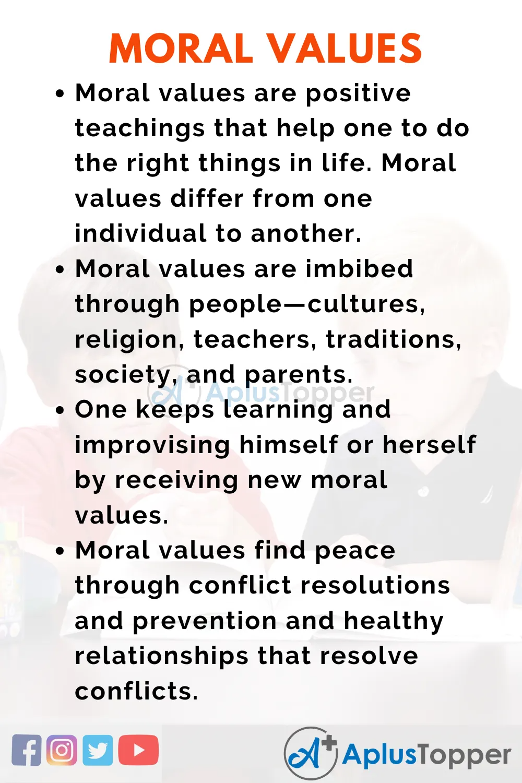 Moral Value Essay On For Student And Children In English A Plu Topper Essayonmoralvalue Moralvalue Good Morals Belief Personal Nursing Profession My Filipino