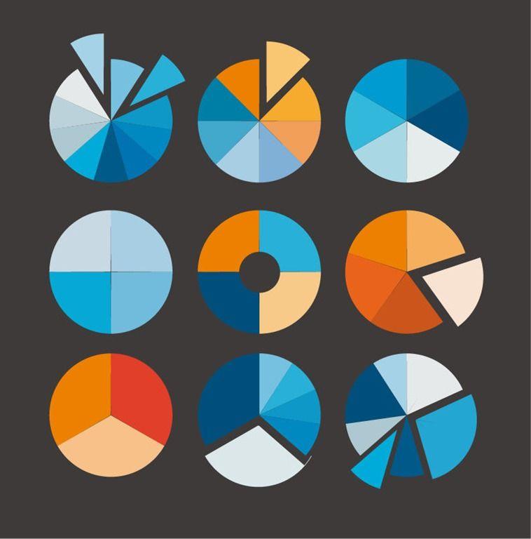 Pie Chart Vector Set Motif Pie Chart Pinterest Infographic