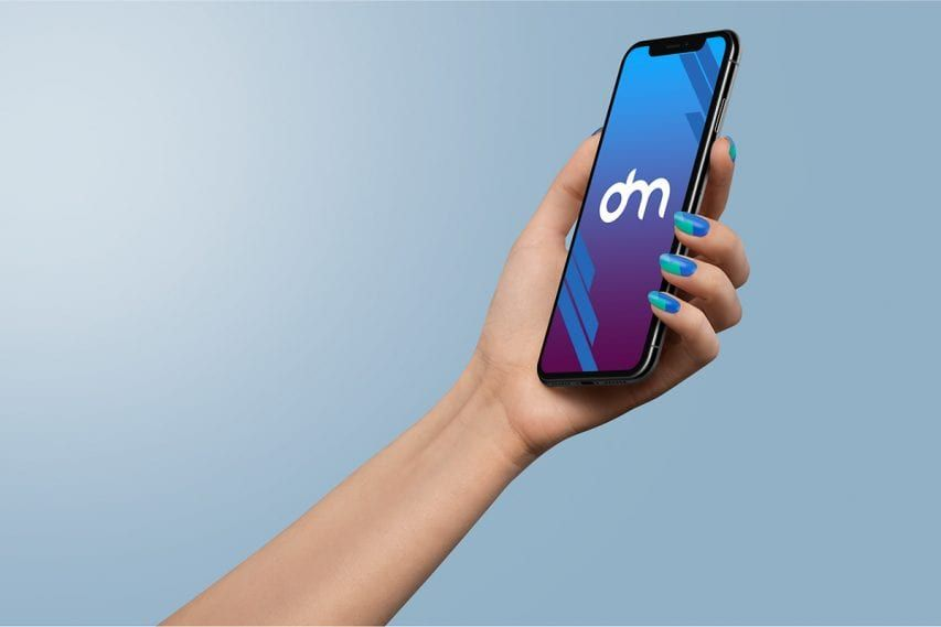 Download Free Woman Holding Iphone Xs In Hand Mockup Iphone Iphone Price Samsung Gear Fit