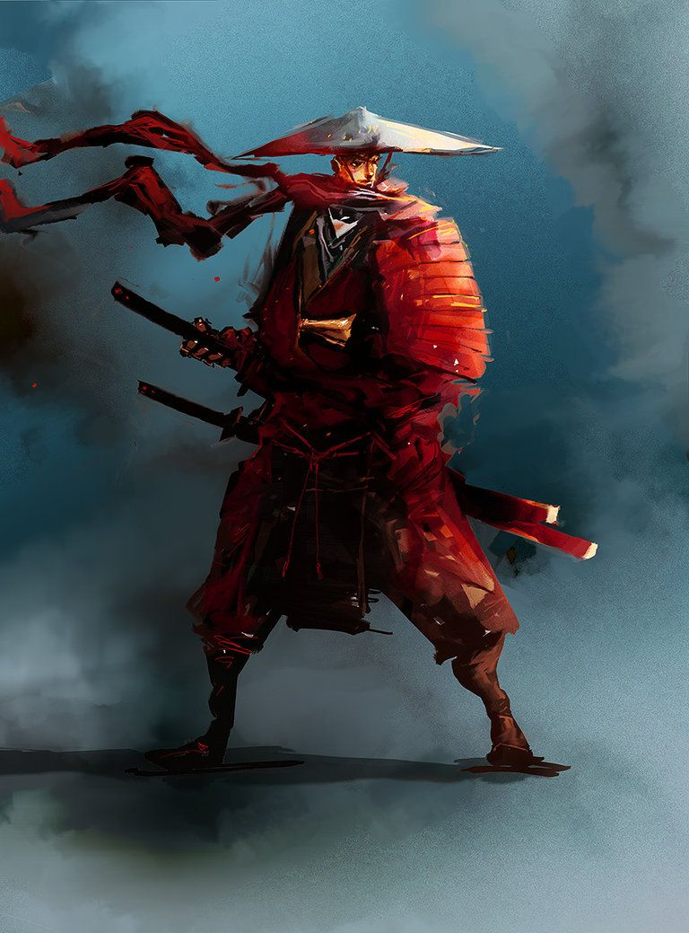 Akai Kenshi by cobaltplasma | Samurai | Fantasy art, Art, Character art