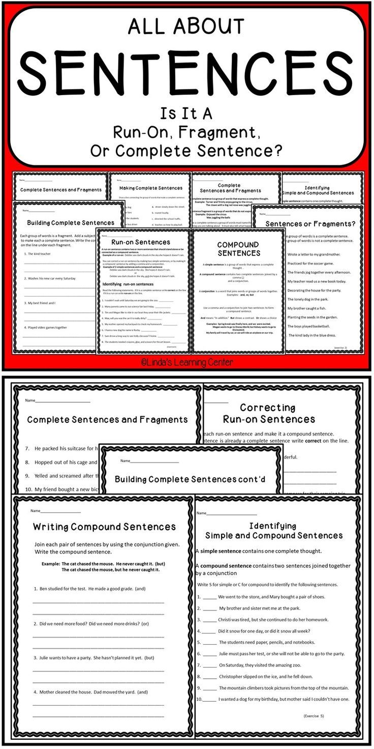 Sentences - Run On, Fragment, or Complete | Best of Teachers Pay ...