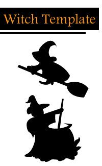 Witch Template Halloween Window Decoration