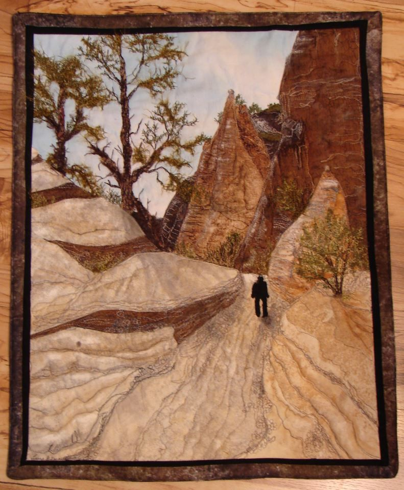 Beautiful art quilt by laura gilmartin landscape art