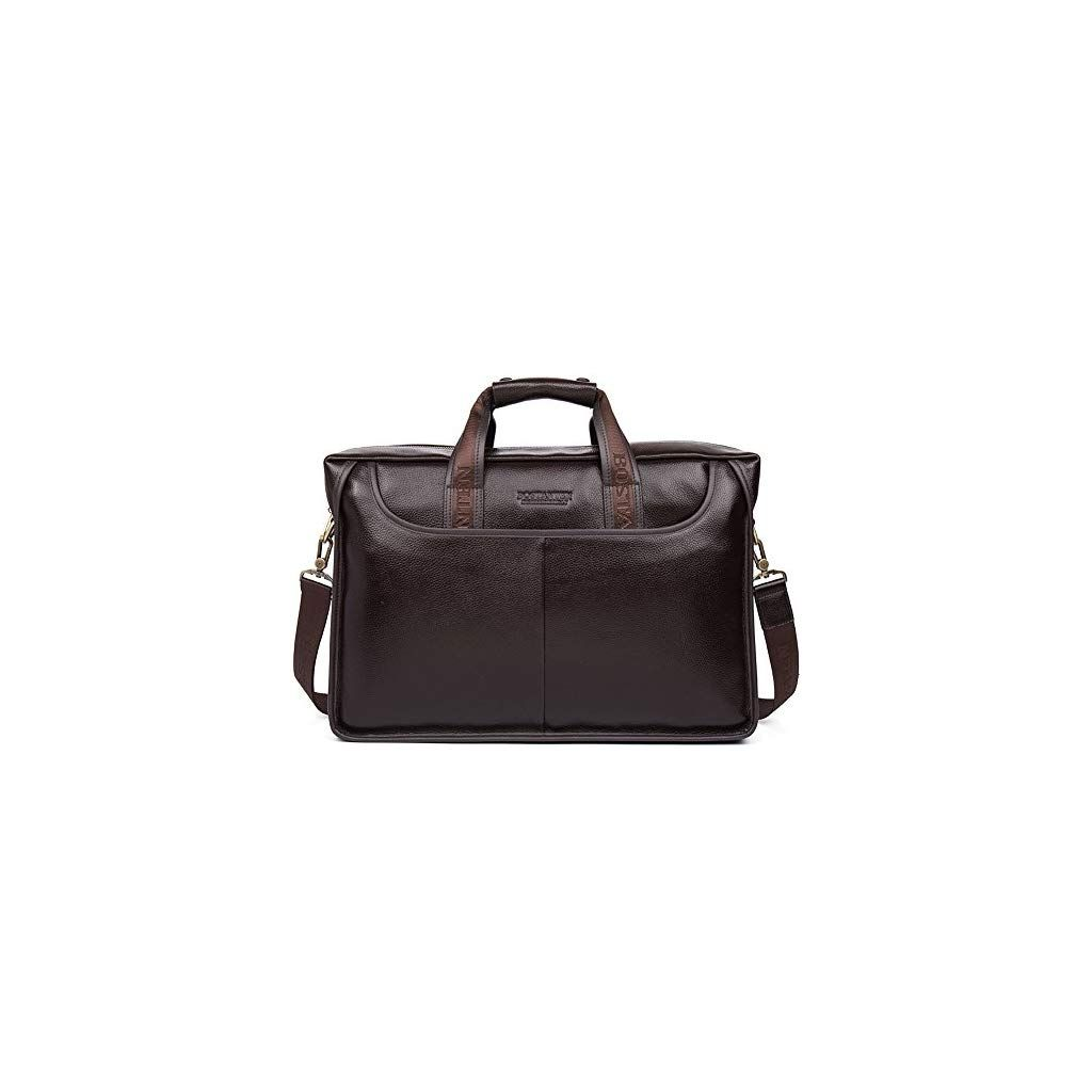 a1e7e8b56 BOSTANTEN Leather Briefcase Laptop Handbag Messenger Business Bags for Men  - SEWING FROM A TO Z
