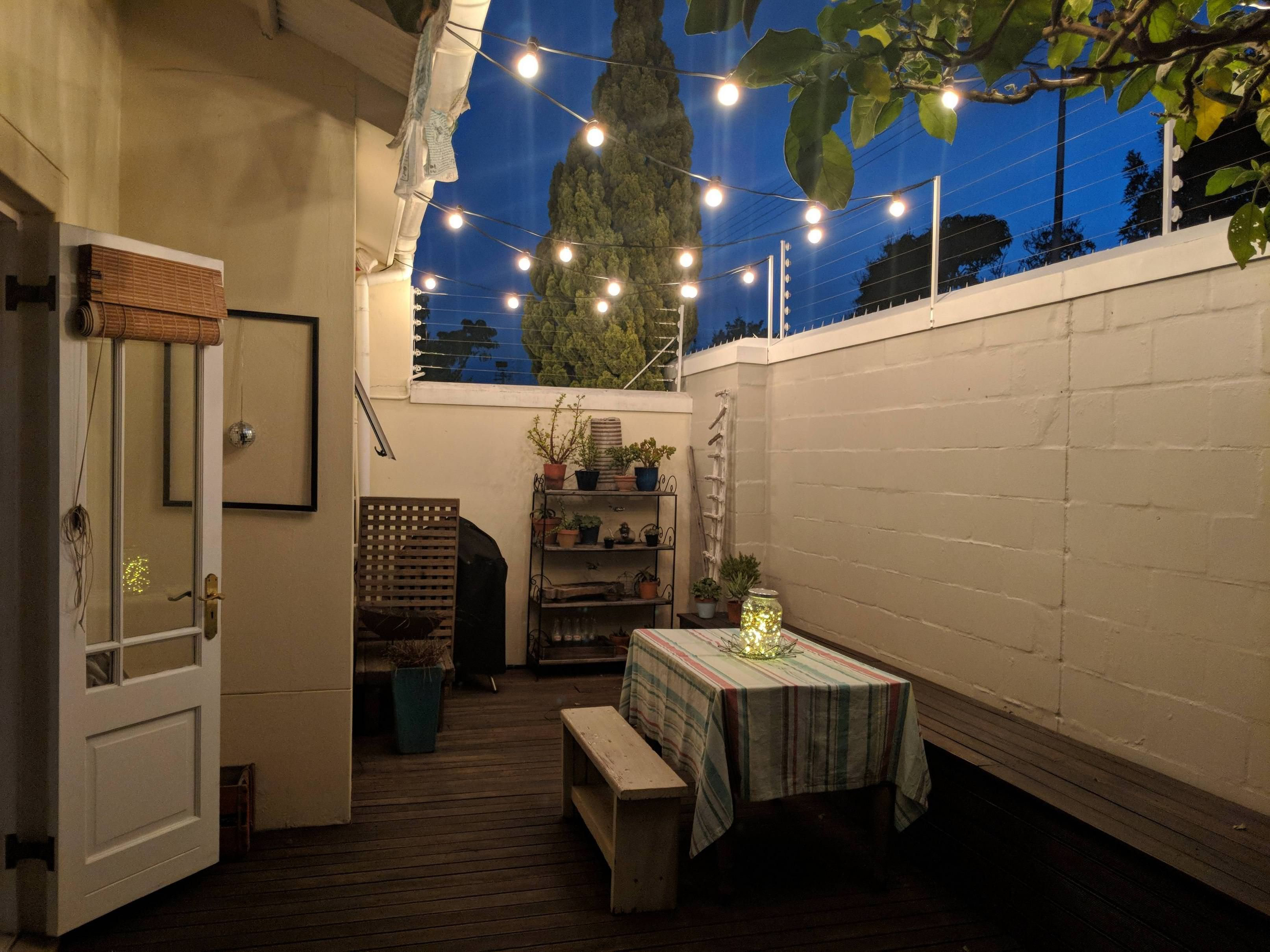 Just finished the lighting on my deck CozyPlaces (With