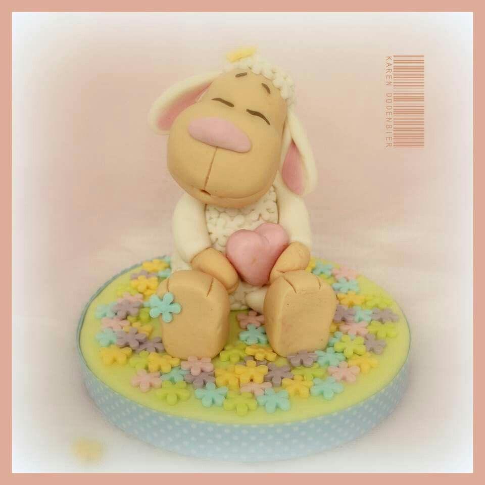 Baaaa fondant sheep teddy bear teddy cake toppers