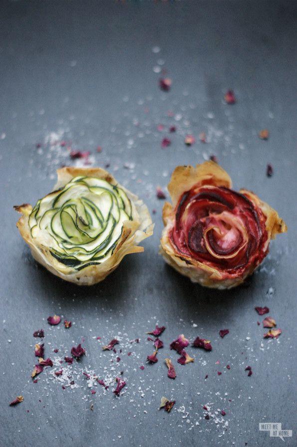 Sag's mit Blumen: Filoteig-Gemüse-Blüten - Meet me at home