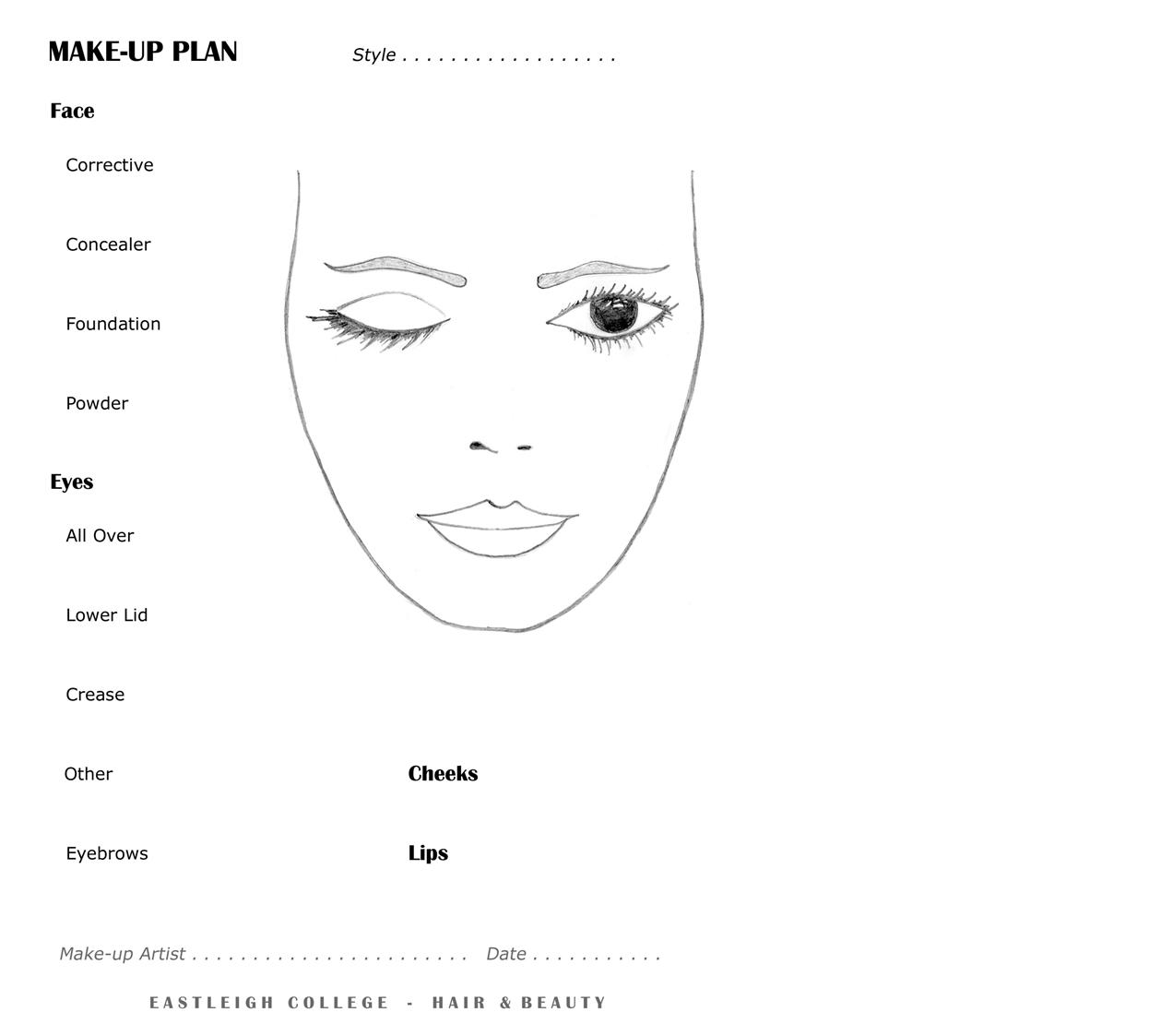 Xx Face Charts And Make Up Plans  Makeup Magic
