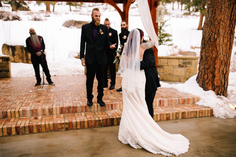 Della terra wedding in estes park colorado in 2020