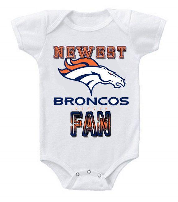 NEW Football Baby Bodysuits Creeper NFL Denver Broncos 3