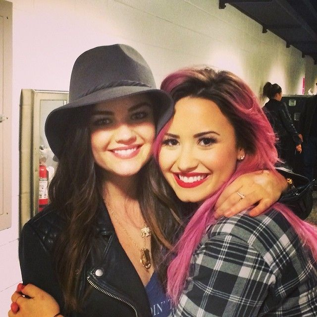 Lucy Hale and Demi Lovato.