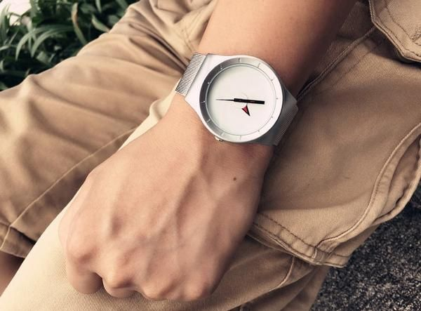 Enmex creative red pointer simple design watches #99fab #Enmex #creative