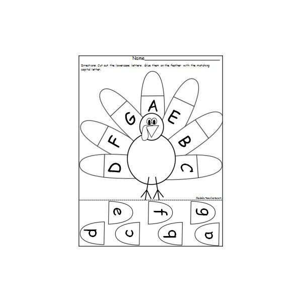 Free Thanksgiving turkey worksheets. There is a blank worksheet so you can write to