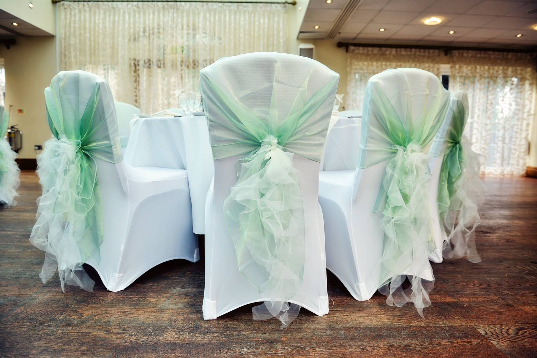 Chair Cover Ideas. Chair Cover Inspiration. Chair Covers. Chair Hoods. Sage  Green Ruffle Chair Hoods.