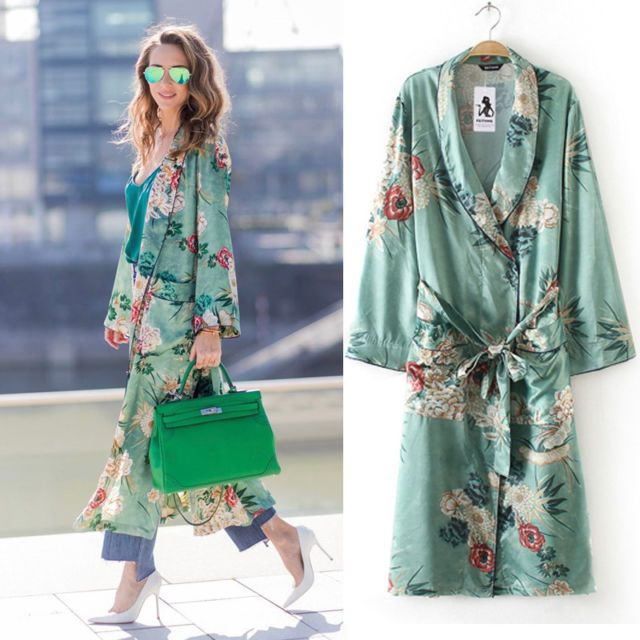 cd98cf85c86 Women s Plus Size Bohemian Floral Tassel Long Kimono Oversized Shawl Tops  Coat