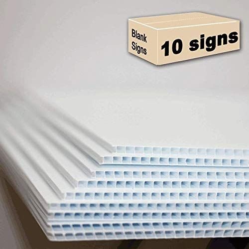 10 Blank Signs White 18 x24 for Garage Sale Signs for Rent Open House Estate Sale Now