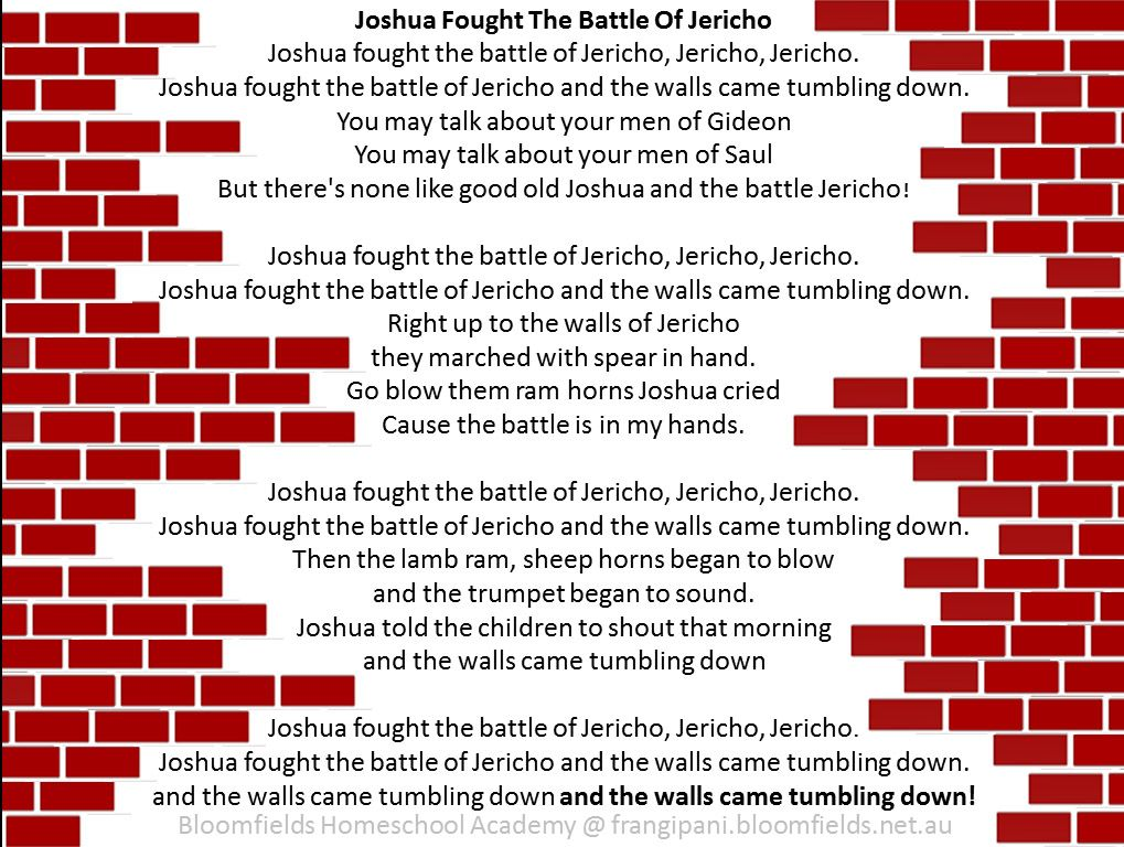 The Conquest Of Jericho Joshua 2 6 Fought Battle Song