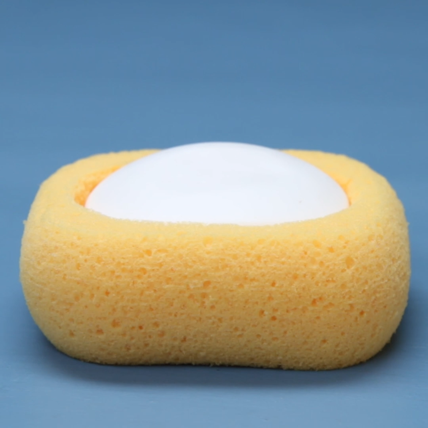 Soap Dish Sponge DIY hacks cleaning bathroom Nifty