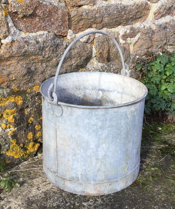 Large zinc galvanised vintage French cylinder by LeKrazyHorse