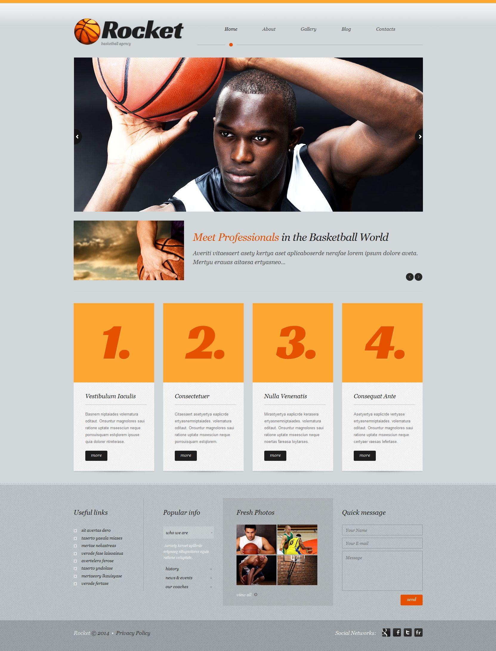 Basketball Responsive WordPress Theme 51915 Wordpress