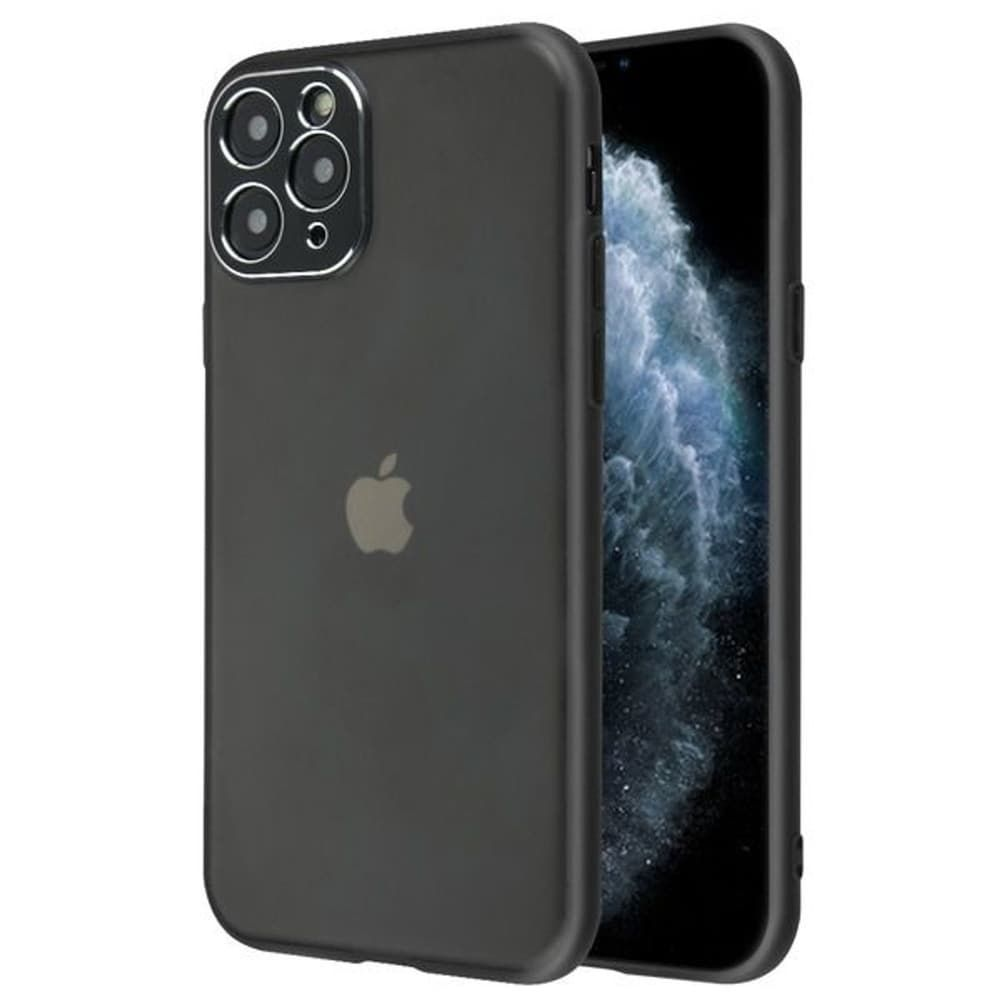 Insten Semi Transparent Frosted Hard Hybrid Plastic TPU For Apple iPhone 11 Pro - Smoke/Black, Gray