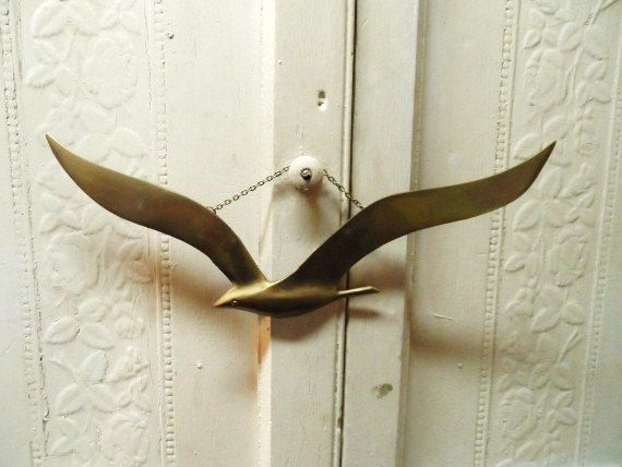 Neat Mid-Century Mod Vintage BRASS SEAGULL by OrphanedTreasure