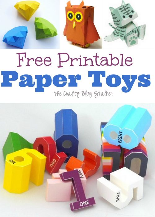 graphic about Free Printable Paper Crafts referred to as Absolutely free Printable Paper Toys paper crafts Printable paper