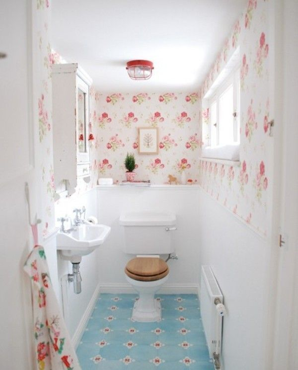 shabby chic modern interiors | Shabby Chic Bathroom Decor in 16 ...