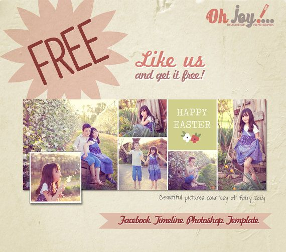 Free Facebook Timeline Cover Photoshop Template  Via Etsy