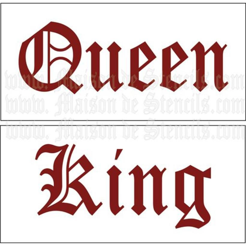 Stencil King Crown: King And Queen Stencils 2 5 5 X 11 5