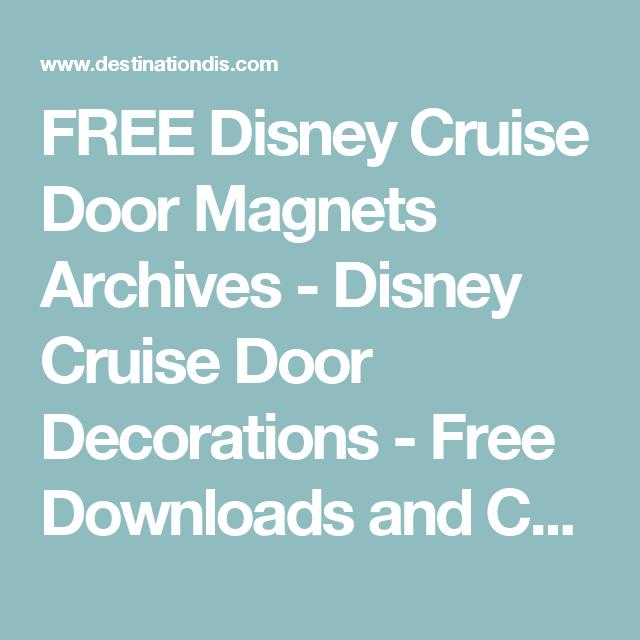 FREE Disney Cruise Door Magnets Archives - Disney Cruise ...