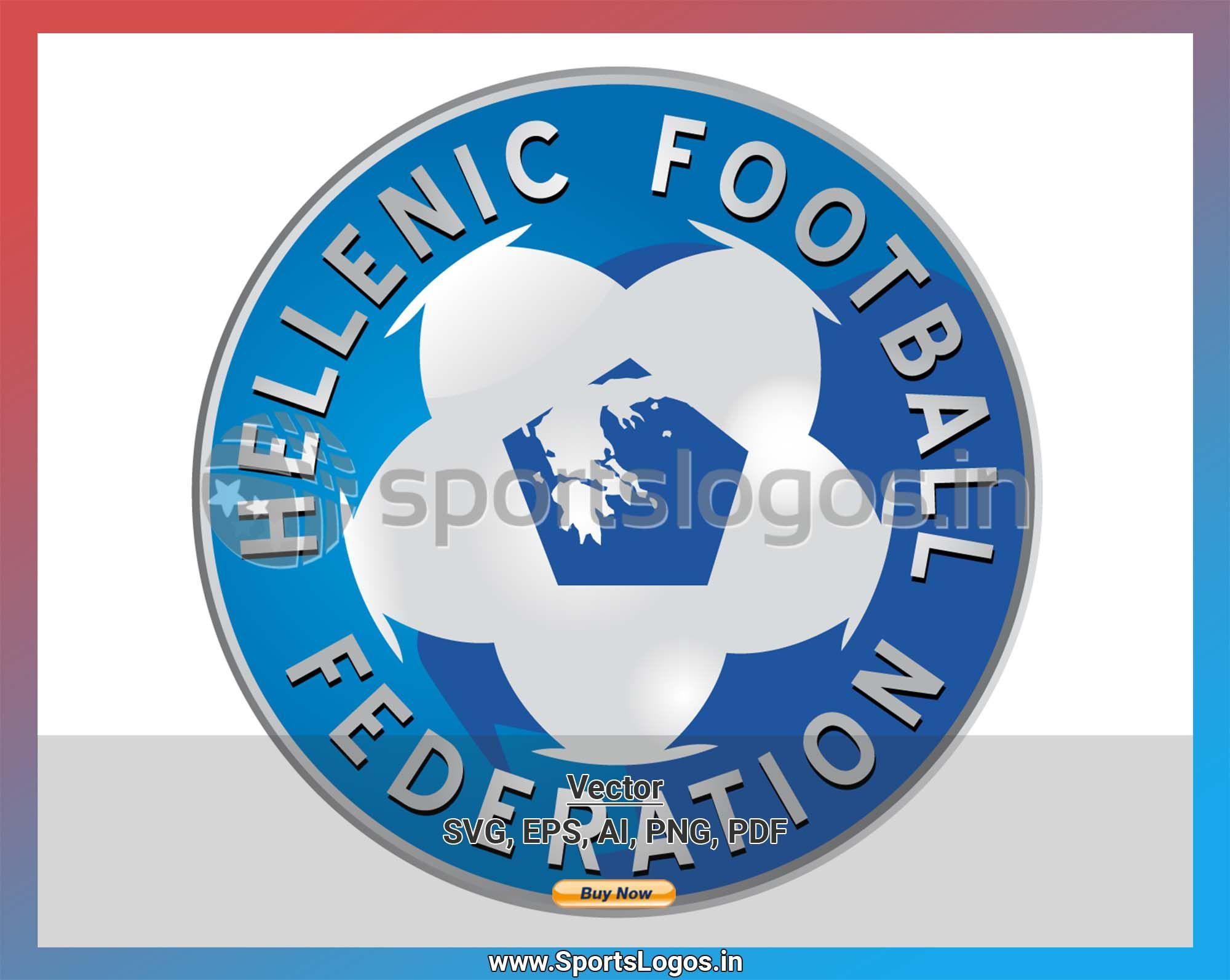 Greece Soccer Sports Vector Svg Logo In 5 Formats Spln001663 Sports Logos Embroidery Vector For Nfl Nba Nhl Mlb Milb And More Association Logo Sports Logo Sport Soccer
