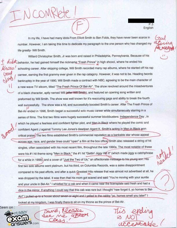 Funny college admission essay