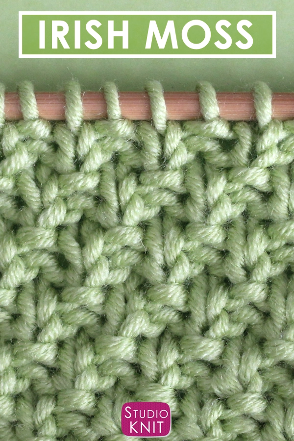 Photo of How to Knit the Irish Moss Knit Stitch Pattern with Video Tutorial