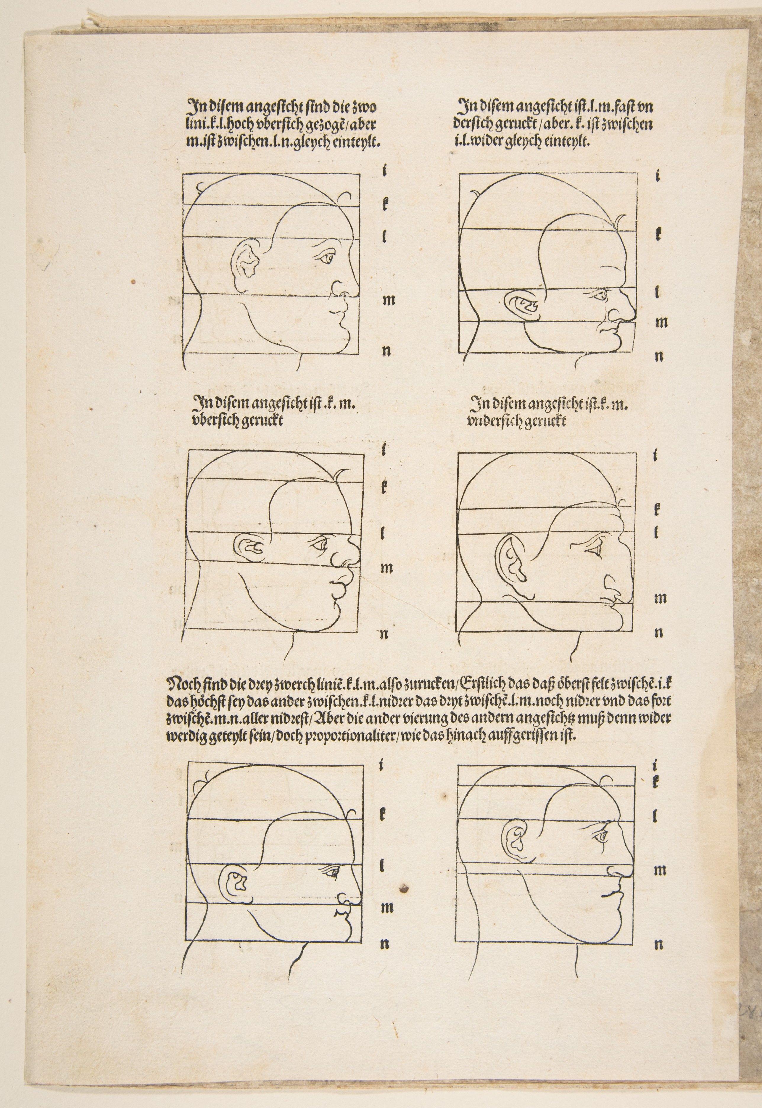 Illustration and Text from Dürers Vier Bucher von Menslicher Proportion, Nuremberg, 1528 Albrecht Dürer  (German, Nuremberg 1471–1528 Nuremberg) (2575×3745)