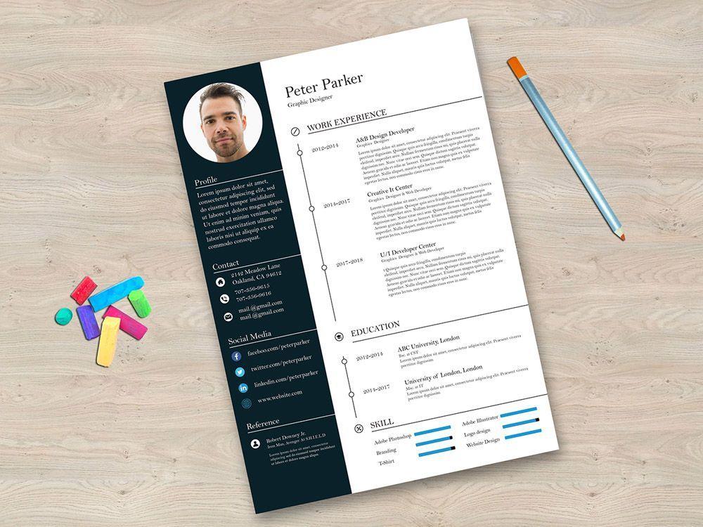 Free Editable Illustrator CV Template for Any Job