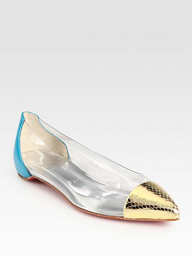 christian louboutin corbeau patent metallic leather ballet flats rh pinterest com au